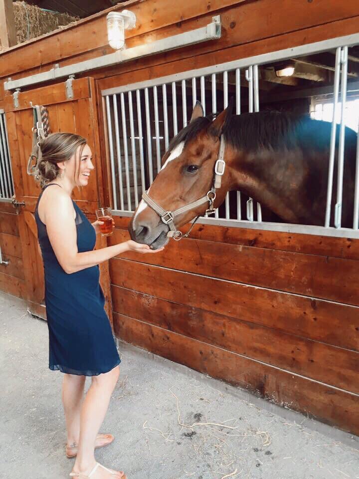 Tori and a horse